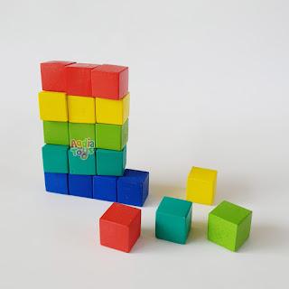 Kubus Warna Mainan Kayu SNI