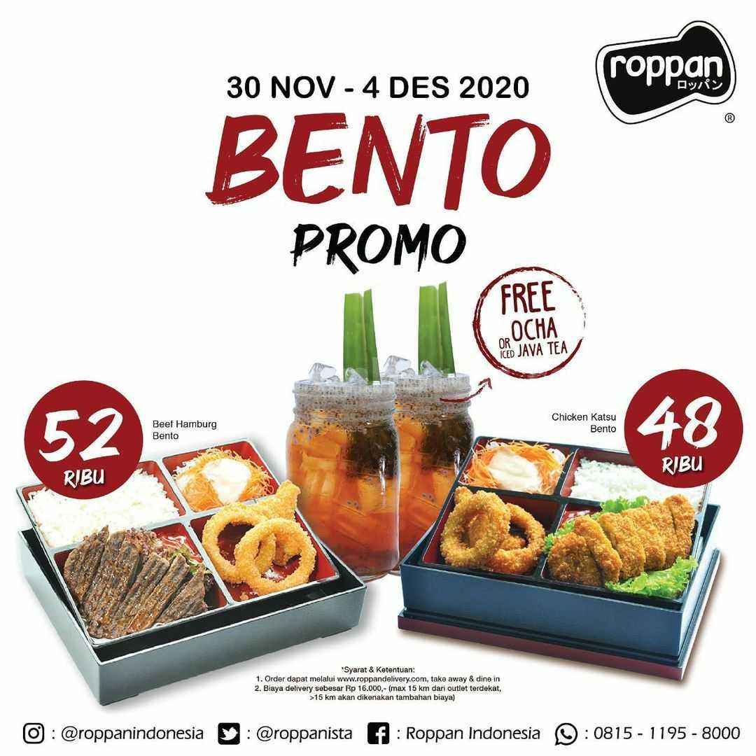 Promo Roppan Bento Special Price 30 November - 4 Desember 2020