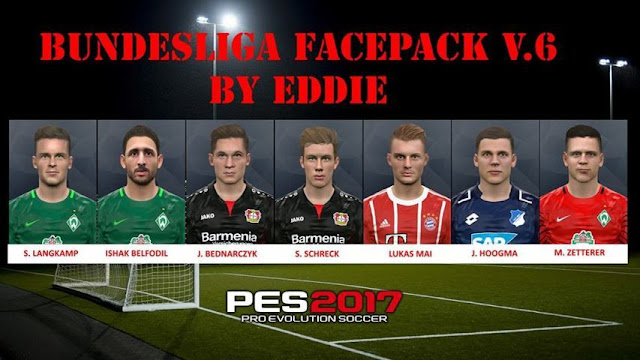 Bundesliga Facepack Vol. 6 PES 2017