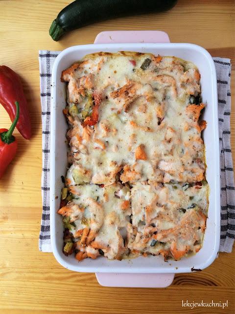 Ziemniaczana zapiekanka z łososiem i beszamelem / Potato Salmon Casserole