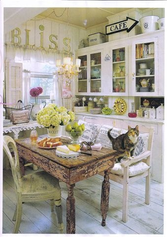 The use of vintage elements in this kitchen gives it an eclectic style that's totally personal