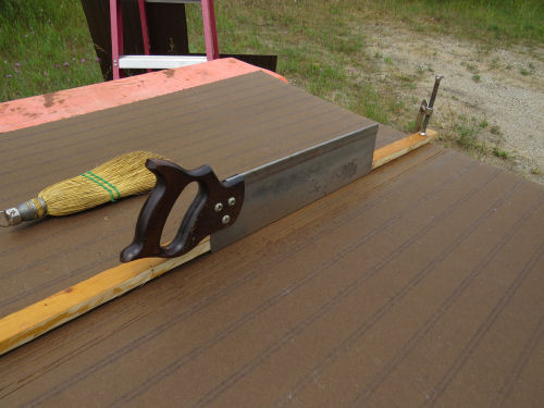 using a miter saw to cut grooves