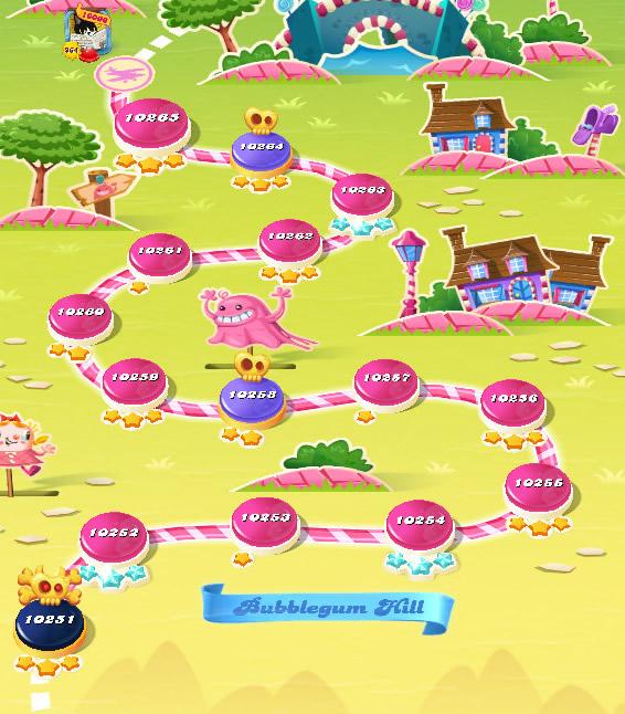 Candy Crush Saga level 10251-10265