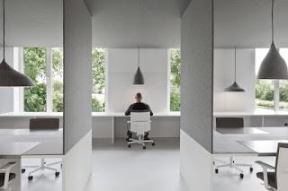 xác định rõ ý tưởng chủ đạo , phong cách trang trí, màu sắc, tông màu chủ đạo đã định hướng cho văn phòng công ty