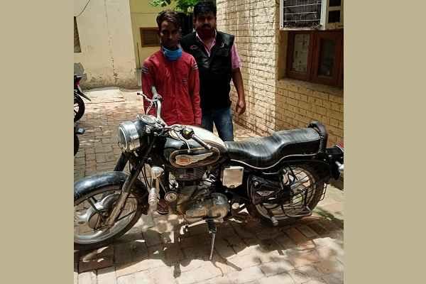 bullet-motorcycle-chori-case-faridabad-cia-48-arrested-chor-amir