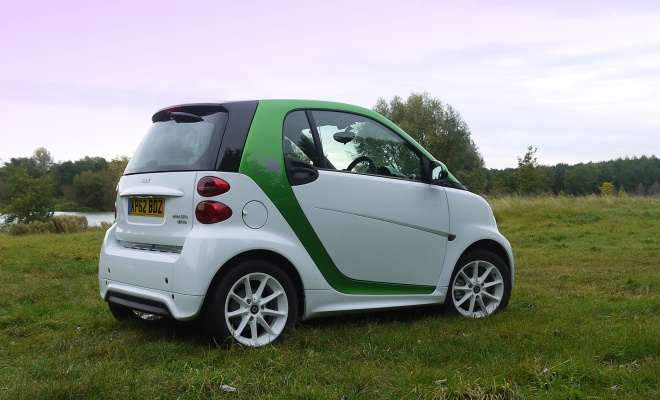 Smart ForTwo Electric Drive rear side view