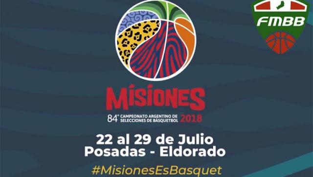 CAMPEONATO ARGENTINO DE BASQUETBOL MAYORES 2018 EN MISIONES