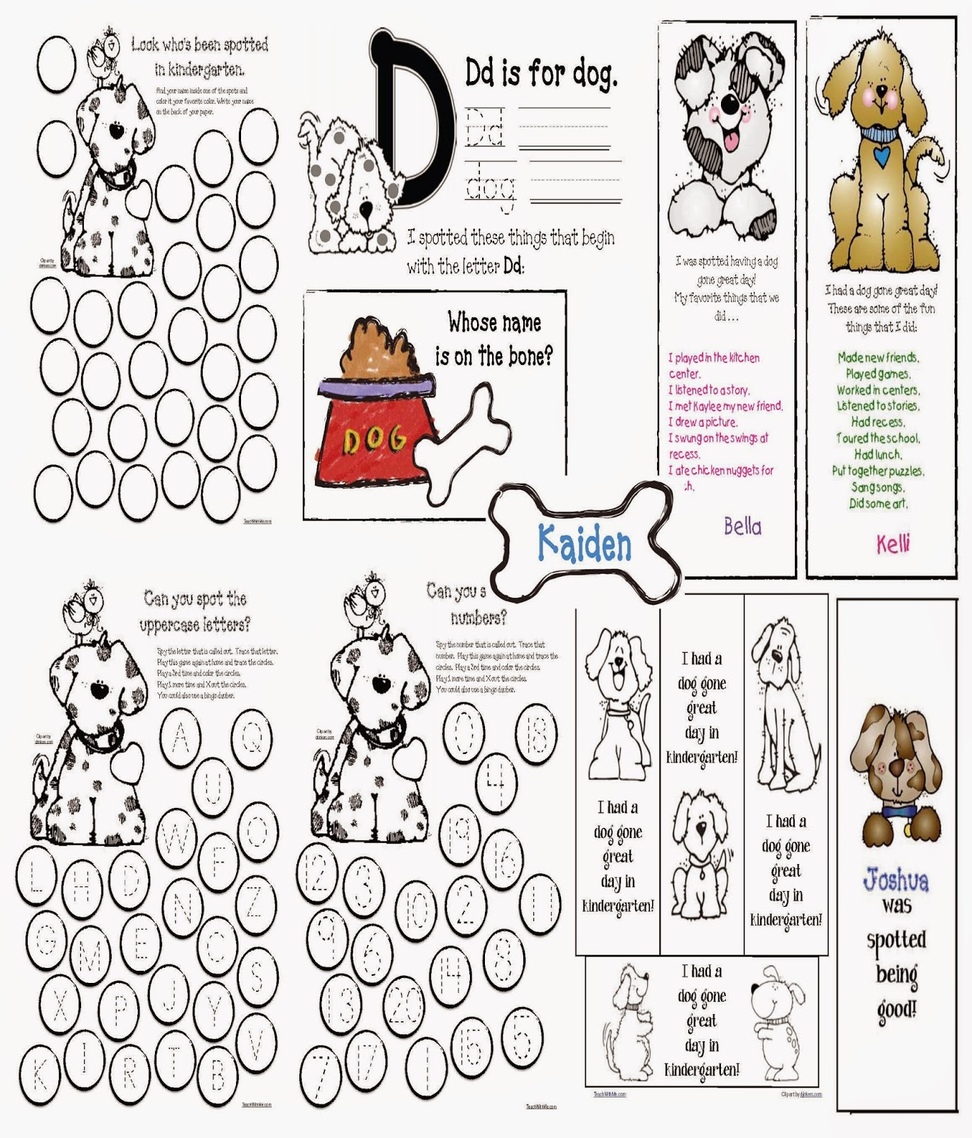 Classroom Freebies Back To School Puppy Packet With Fun Assessments