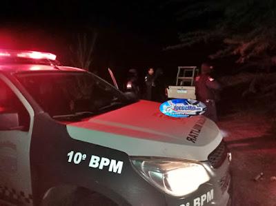 ASSU RN-Polícia de Carnaubais prende homem de Assú furtando cano da Petrobras na comunidade de Panon II