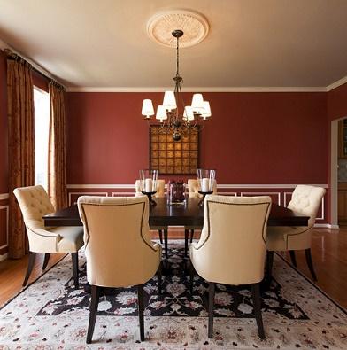 Comedores con paredes rojas - Colores en Casa