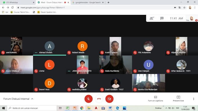 Hasil Forum diskusi Internal tanggal 15 September 2020