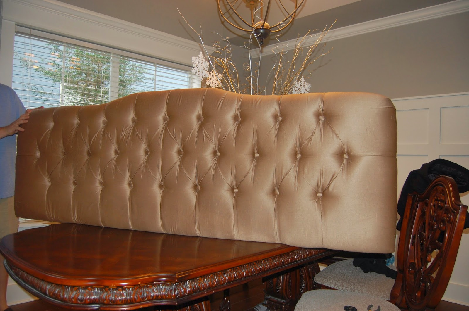 Classic Style Home Diy Project How To Recover A Tufted Headboard