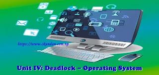 Deadlock – Operating System