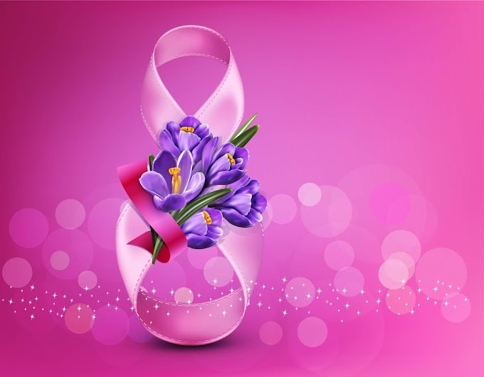 women's day vector 8 March women day and purple flower free vector
