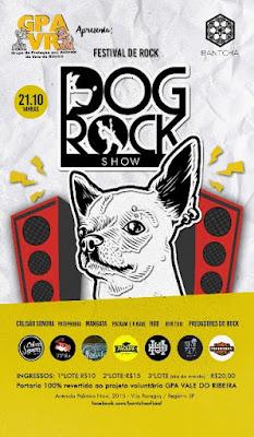 Estão à venda os ingressos para o  1º Dog Rock Show