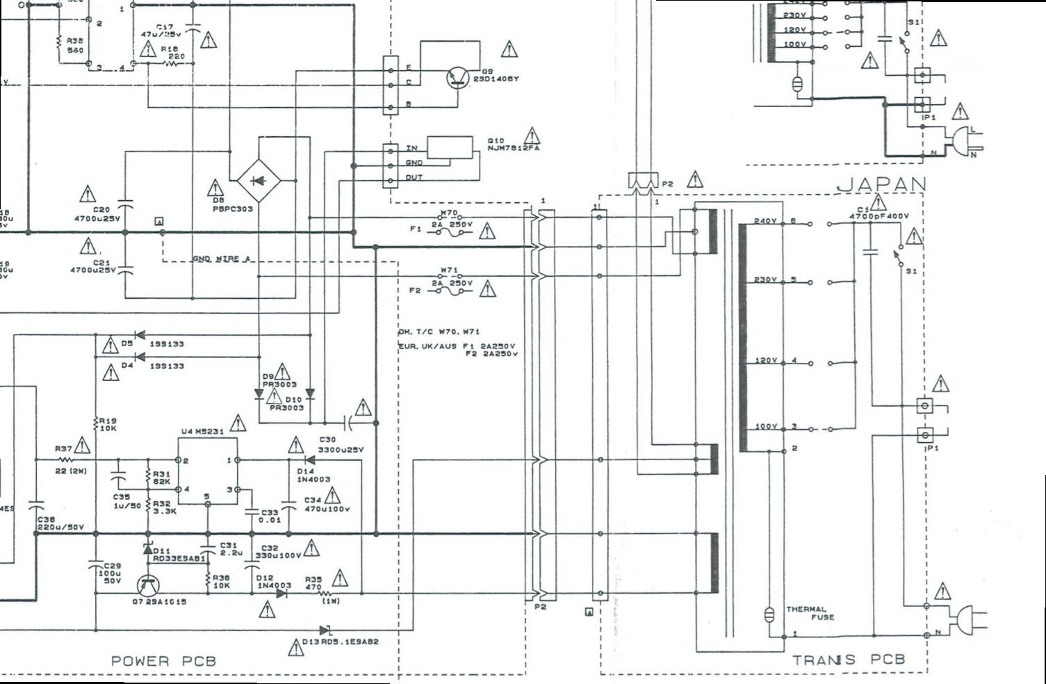 doz u0026 39  blog  tascam portastudio 488 mkii power transformer