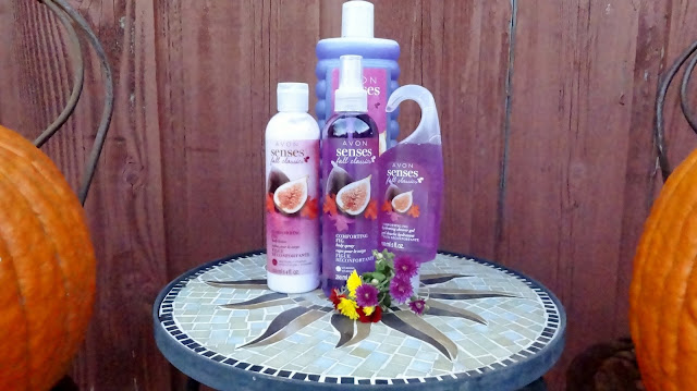 Avon Senses Comforting Fig 4 piece bath and body set