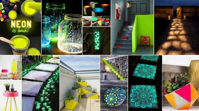 DIY Ιδέες-Κατασκευές με χρώματα που φωσφορίζουν στο σκοτάδι