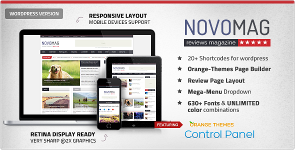 Download Free Novomag v1.1.0 Themeforest Clean & Flat Magazine WordPress Theme