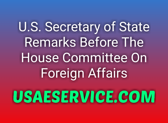 Michael R. Pompeo United States Department Of State