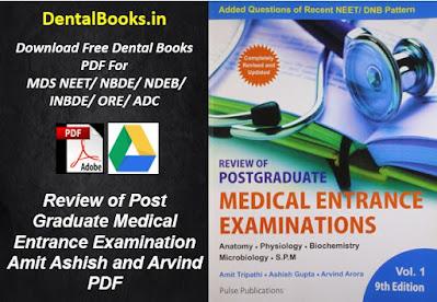 Review of Post Graduate Medical Entrance Examination Volume 1 Amit Ashish and Arvind PDF