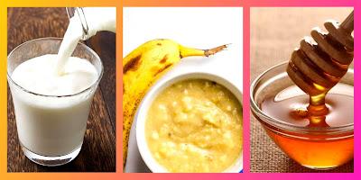Raw milk & mashed banana & pure honey