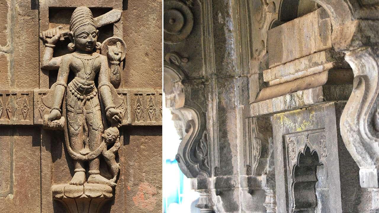 मंदिरावरिल कोरीव मुर्ती