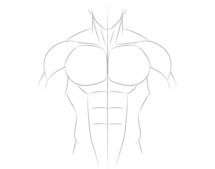 Anime gambar leher pria berotot