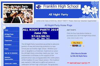 You can volunteer to take a shift at the FHS All Night Party