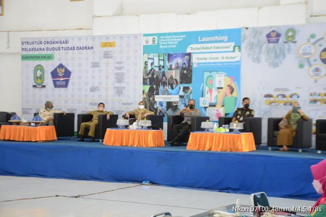 Pemkab Sinjai Ikuti Launching Sulsel Kebut Vaksinasi