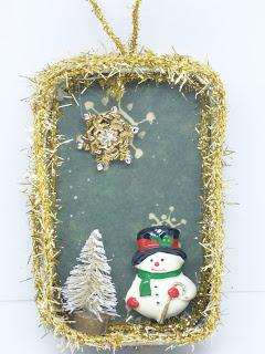 Snowman Ornament by BayMoonDesign
