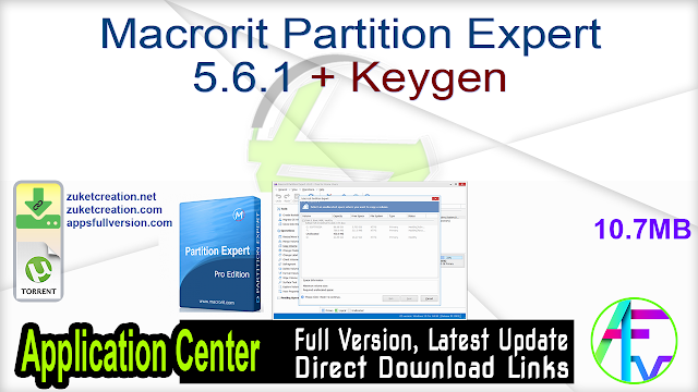 Macrorit Partition Expert 5.6.1 + Keygen