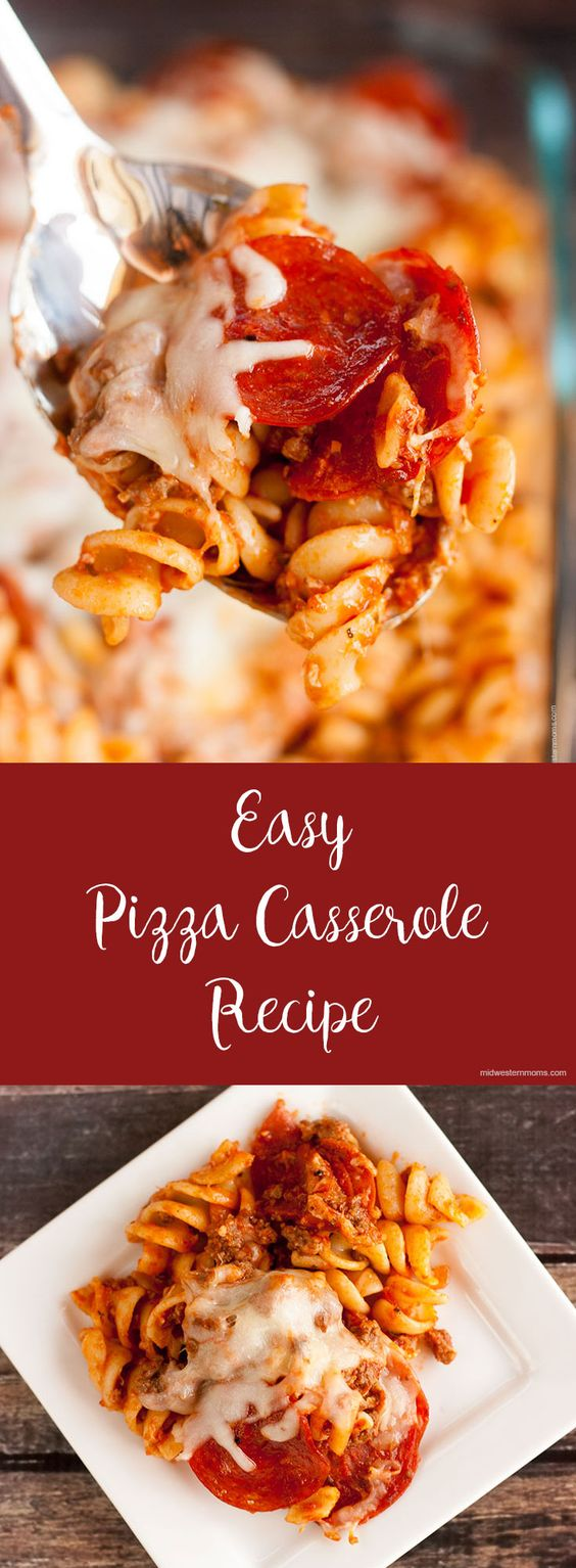 Easy Pizza Casserole Recipe #easy #pizza #casserole #breakfast