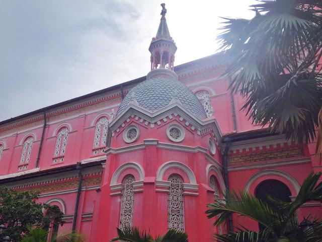 pink church in ho chi minh city tan dinh saigon
