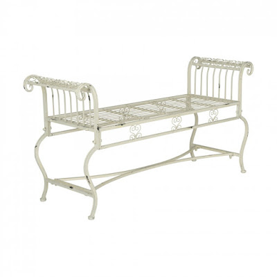 Delicate French inspired Brielle bench from Safavieh at Decor Market - found on Hello Lovely Studio