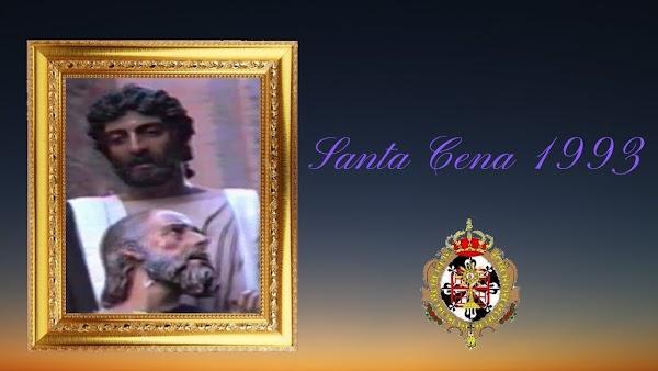 Salida procesional de la cofradía de la Santa Cena de Cádiz en el año 1993