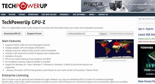 Website Aplikasi GPU-Z