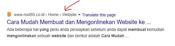 breadcrumb hasil pencarian