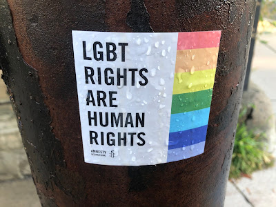 """Sticker: """"LGBT Rights Are Human Rights"""""""