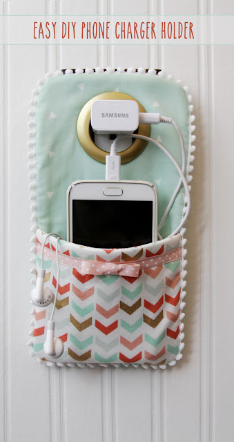 http://www.flamingotoes.com/2016/01/easy-diy-phone-charger-holder/