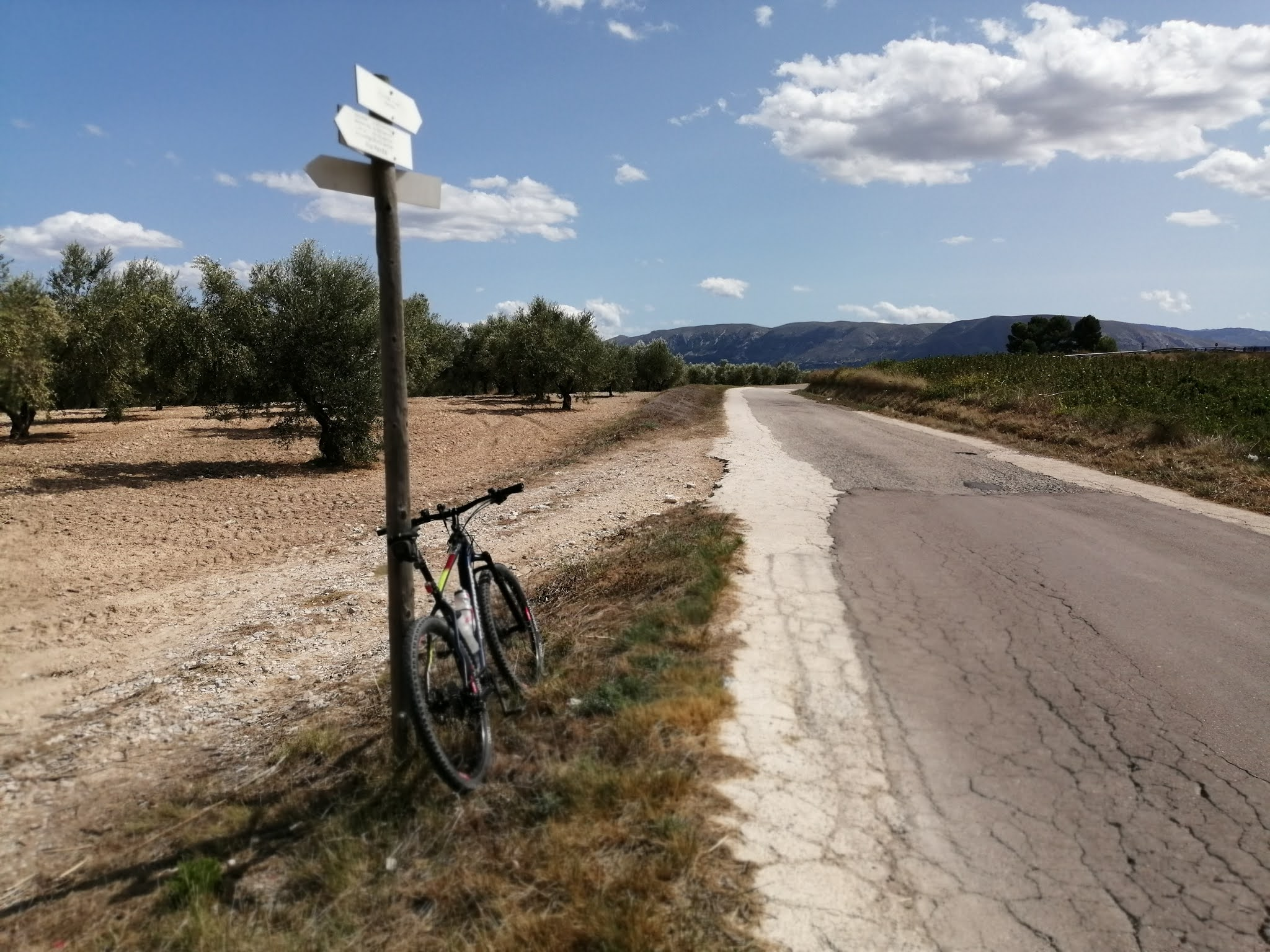 View of the Serpis Greenway near Muro de Alcoy, Alicante