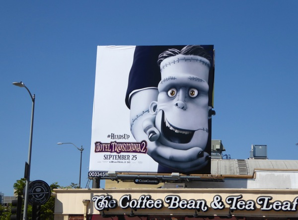 Hotel Transylvania 2 Heads Up billboard