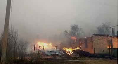 У Луганській обл. окупанти спровокували масштабні пожежі