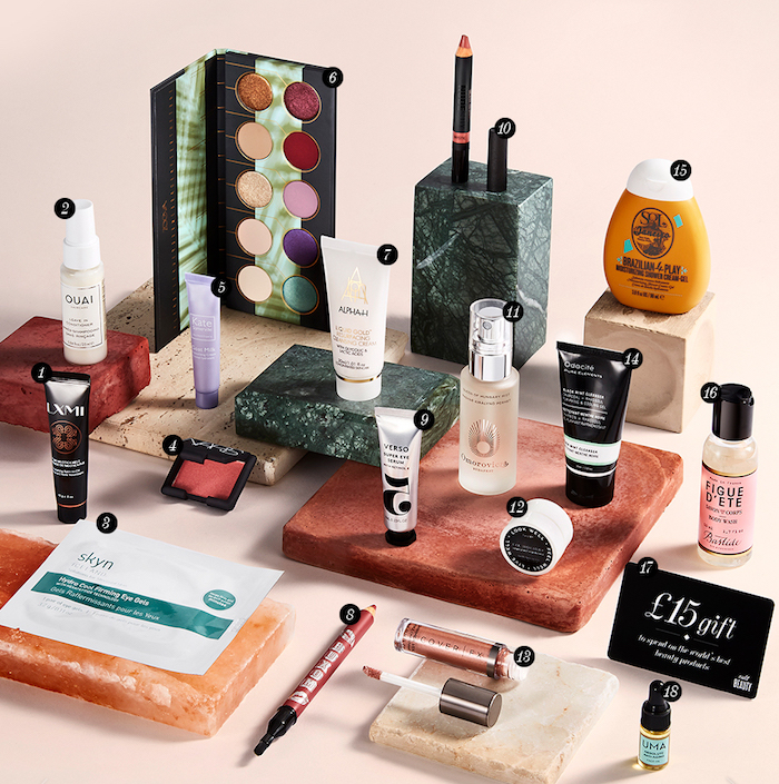 Full contents and spoilers of the Cult Beauty Global Goody Bag Autumn 2018, a free gift with purchase of full-sized makeup and skincare.
