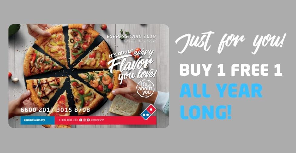 Domino's Perkenalkan Kad Ekspres Terbaru Dengan Penjimatan Sehingga 50%