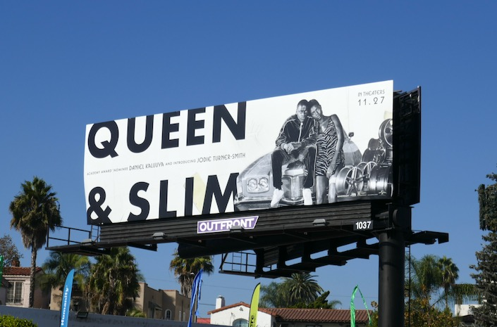 Queen Slim movie billboard