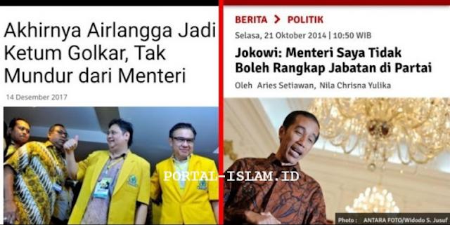 Jadi Ketum Golkar Airlangga Rangkap Jabatan Menteri, Masih Ingat Omongan Ini Pak Jokowi?