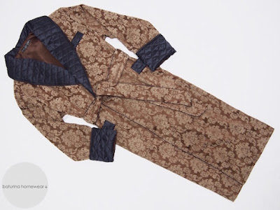 mens warm long quilted dressing gown paisley cotton full length luxury robe smoking jacket men