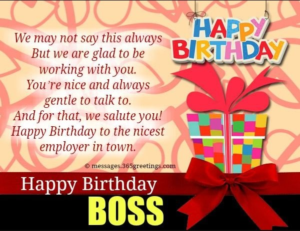Birthday Wishes for Boss Images