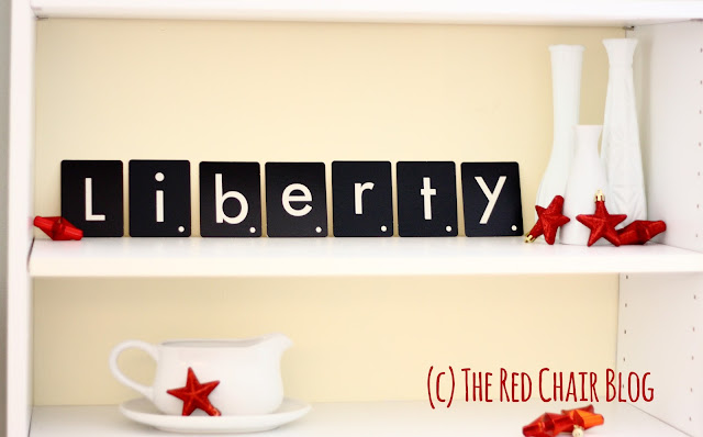 Easy decorating DIY tactile letters to spell out words at The Red Chair Blog